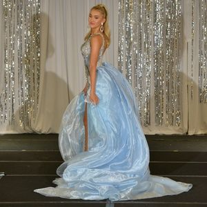 Blue Terani Couture size 2 & custom pageant train